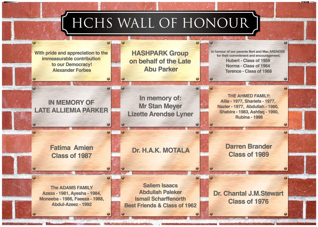 HCHS Wall of Honour